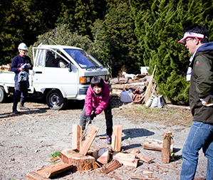 Wood-chopping workshop